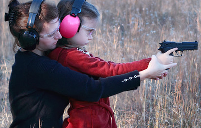 mom and daughter shoot